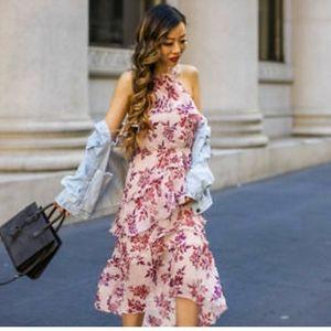 Express Halter Hi Low tiered dress